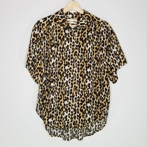 Urban Outfitters animal print button down shirt
